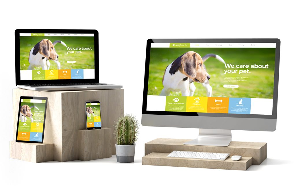 veterinary website on computers